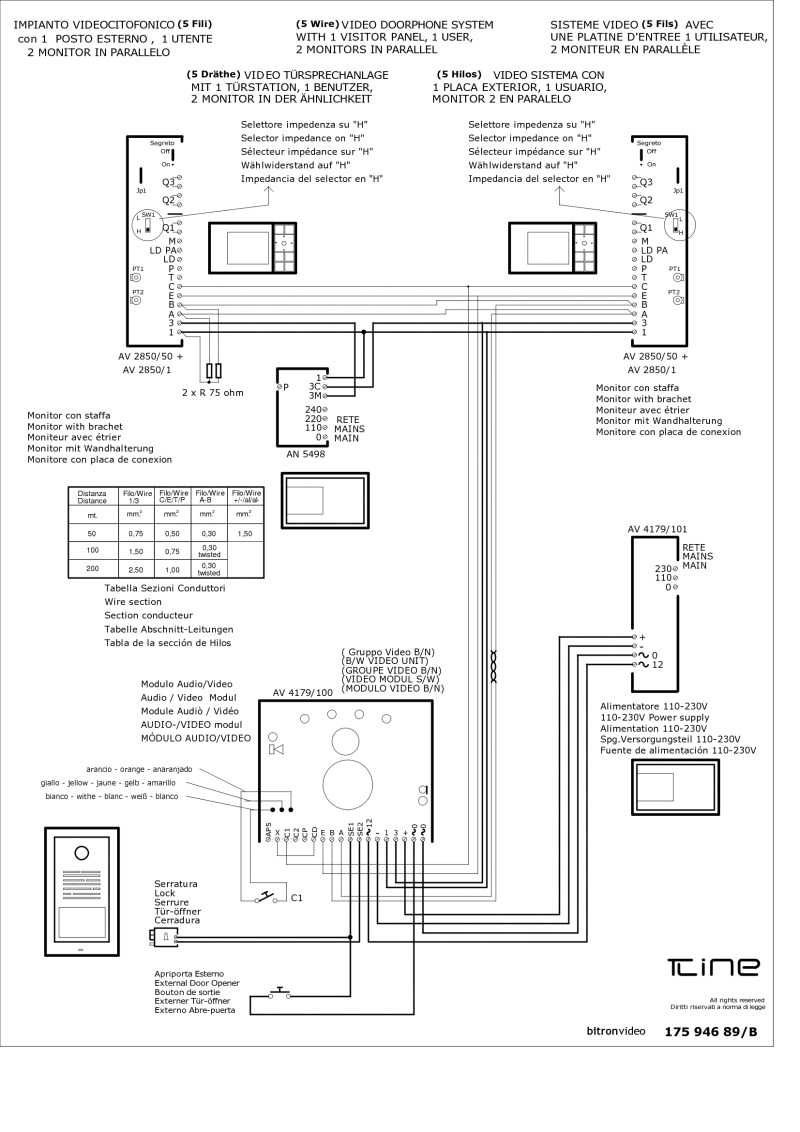 Bitron Video Intercom Wiring Diagram : 36 Wiring Diagram
