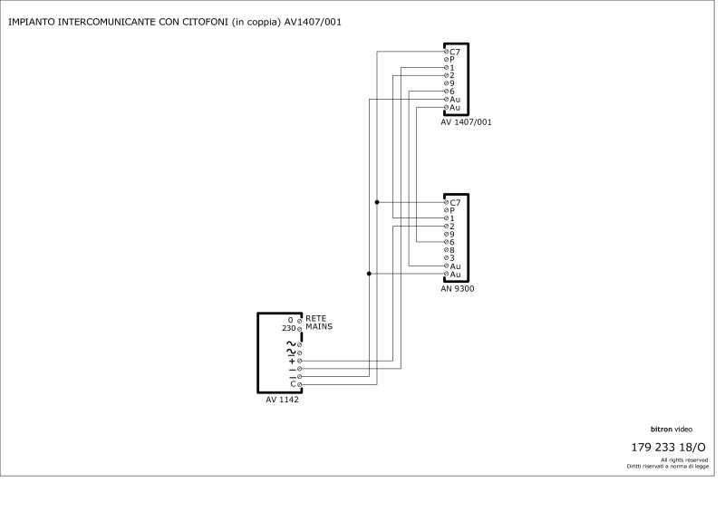 telephone handset wiring diagram human head bitron av1407 003 2 button wall phone type with