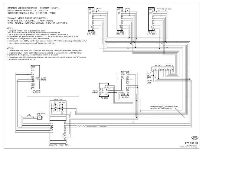 Bitron Video Intercom Wiring Diagram : 36 Wiring Diagram