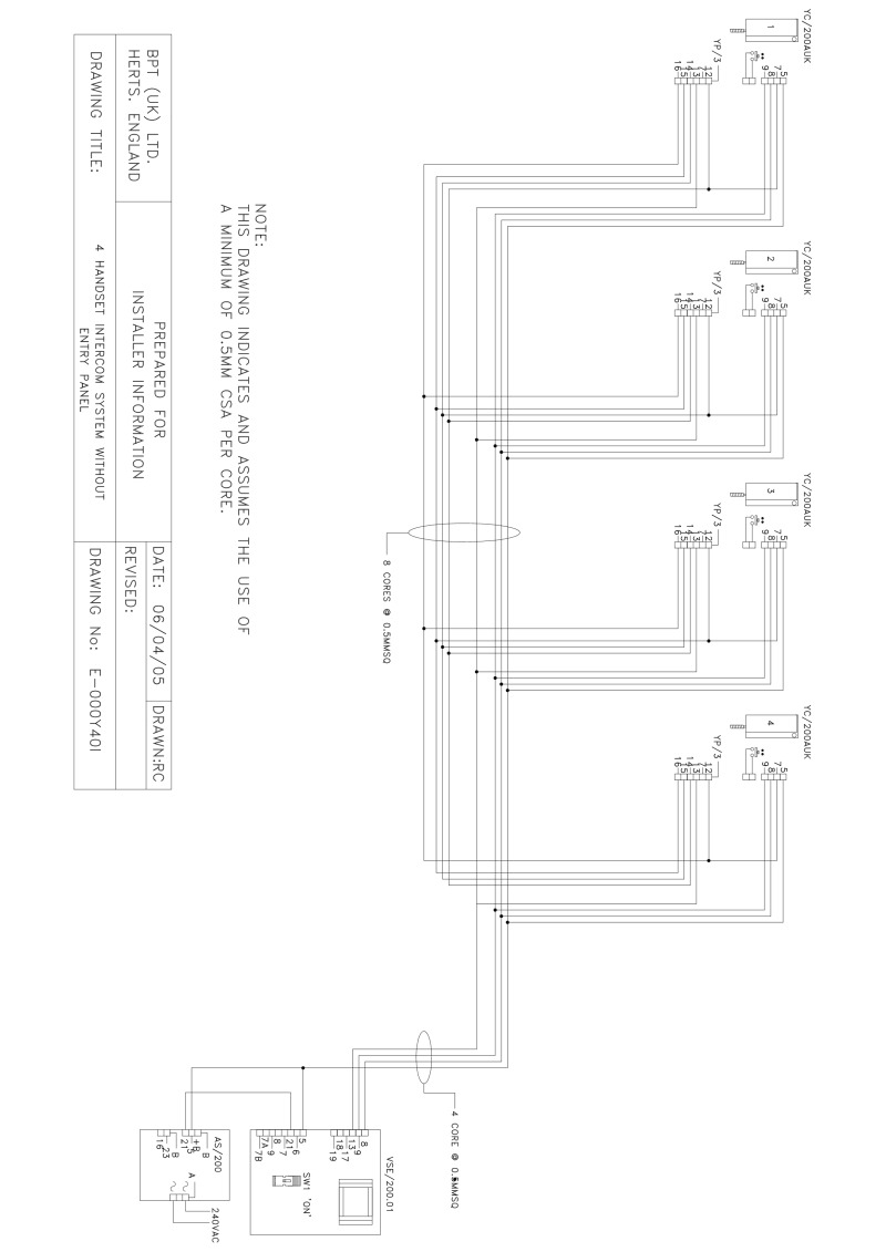 hight resolution of bpt wiring diagrams system 200 intercom wiring diagram of unit 10