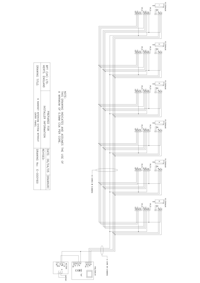 bpt handset wiring diagram