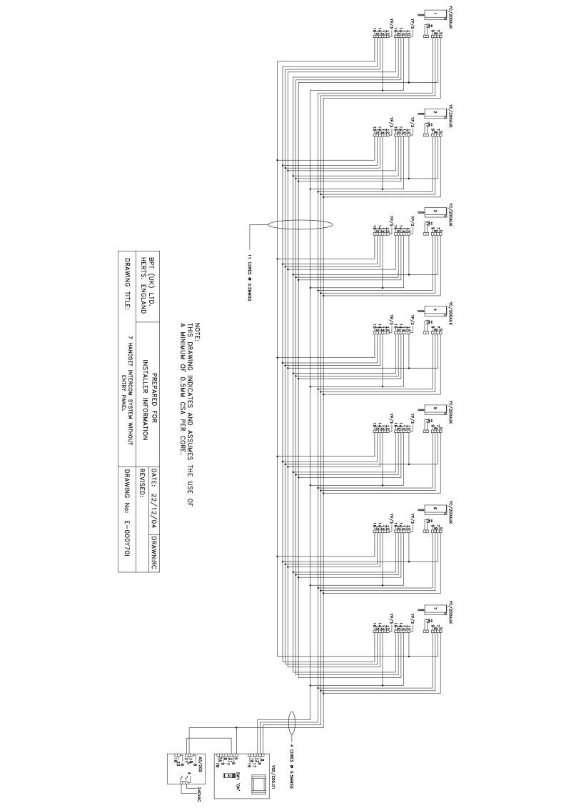 bpt wiring diagrams intercom