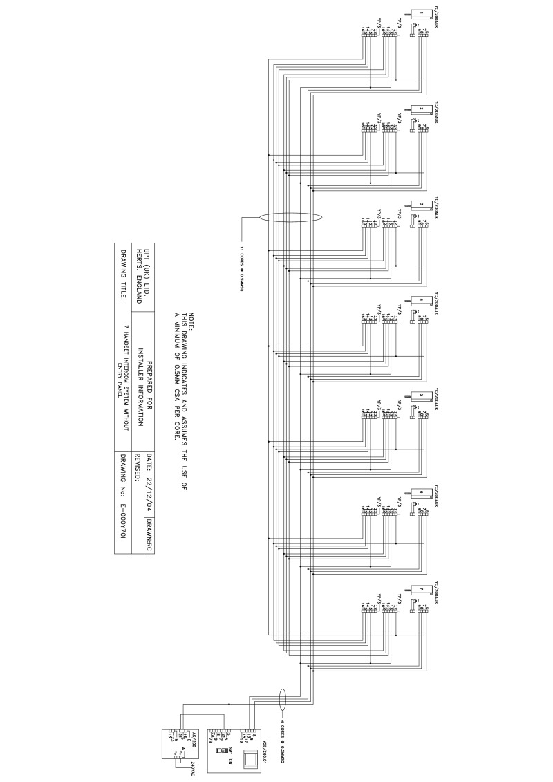 hight resolution of bpt wiring diagram 7 handset intercom without entry panel