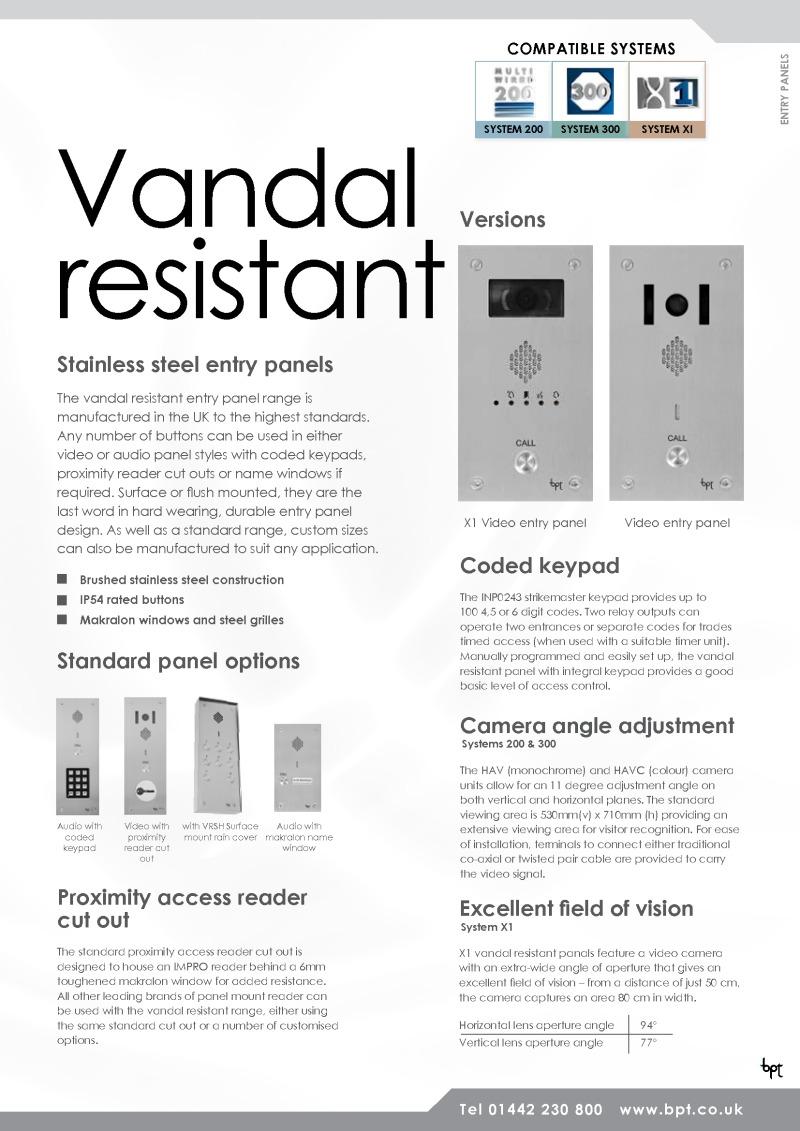 BPT-VRAK/1-BPT 01 button, s.steel Sys 200, VR audio panel