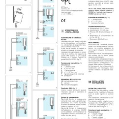 Comelit Wiring Diagram Complement Of A Set Venn Bpt Ac/200 | Auxiliary Relay And Call Adapter