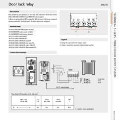 Comelit Wiring Diagram 1973 Dodge Dart Bticino 346250 | 2 Wire Door Relay