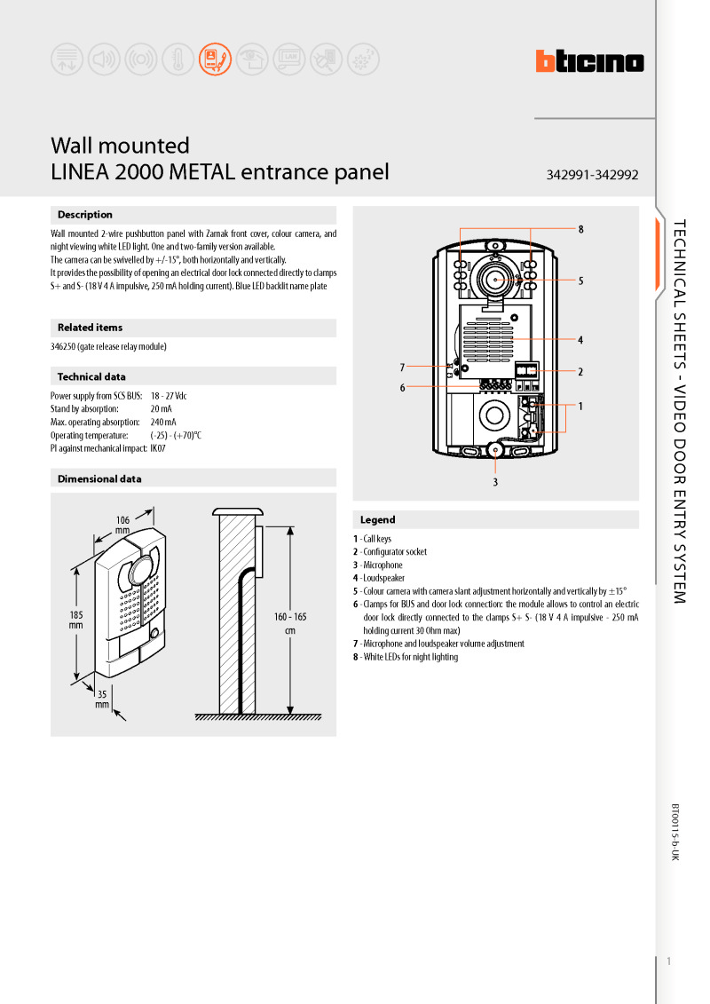 electrical control panel wiring diagram 96 honda civic ac bticino diagrams brochure for linea 2000 colour video