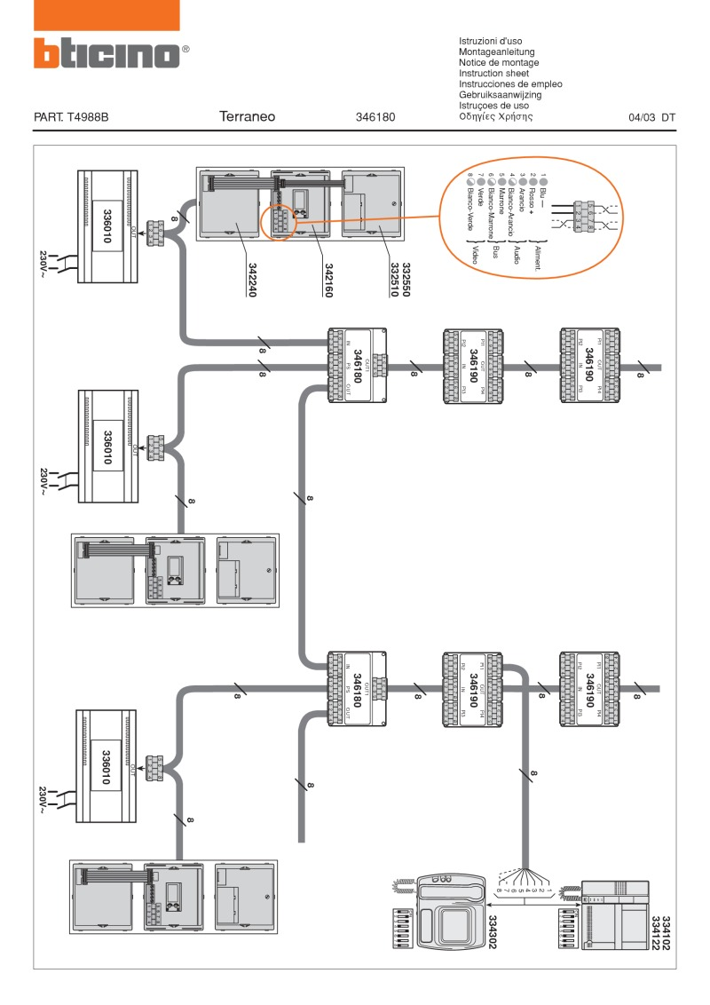 medium resolution of bticino wiring diagram for 346180
