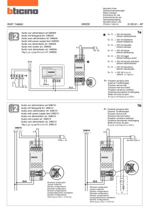 bticino wiring diagrams