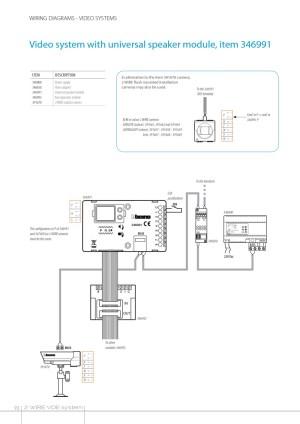 The Bticino 346991 | 2 Wire Audio System Universal Speaker Unit