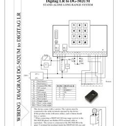 instructions for dg502 m access control unit long range proximity  [ 800 x 1132 Pixel ]