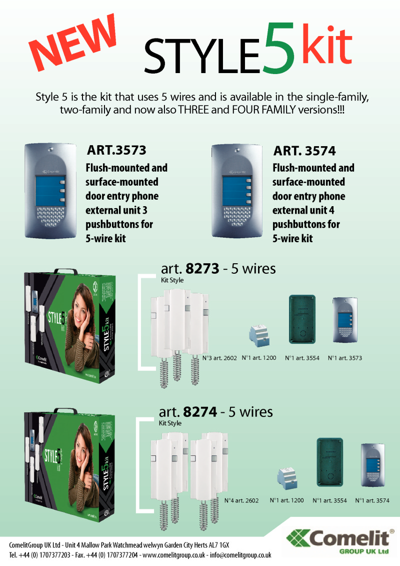 medium resolution of comelit style kit leaflet for 8273 and 8274 kits