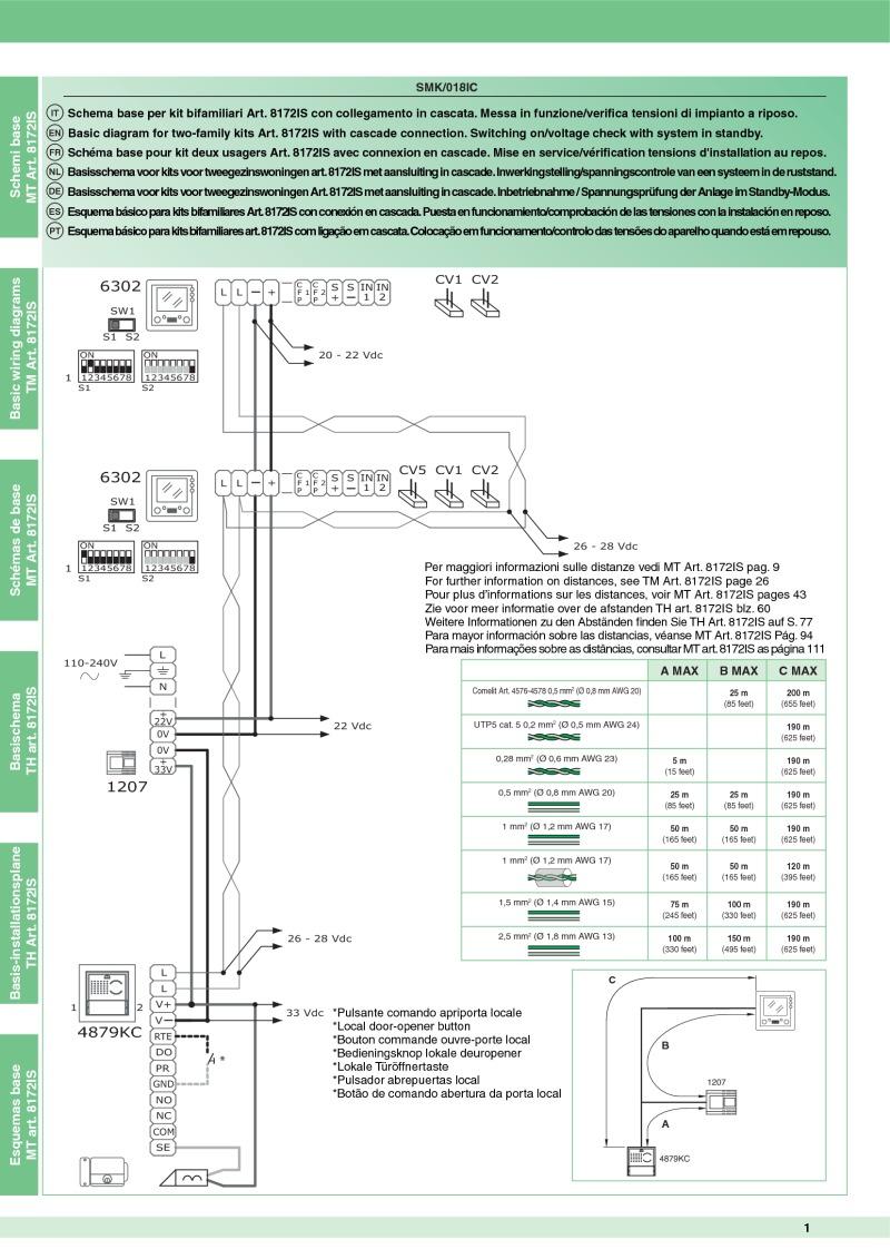 comelit wiring diagram msd 6200 diagrams 8172is