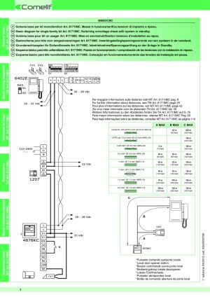 Comelit Wiring Diagram  Wiring Diagram And Schematics