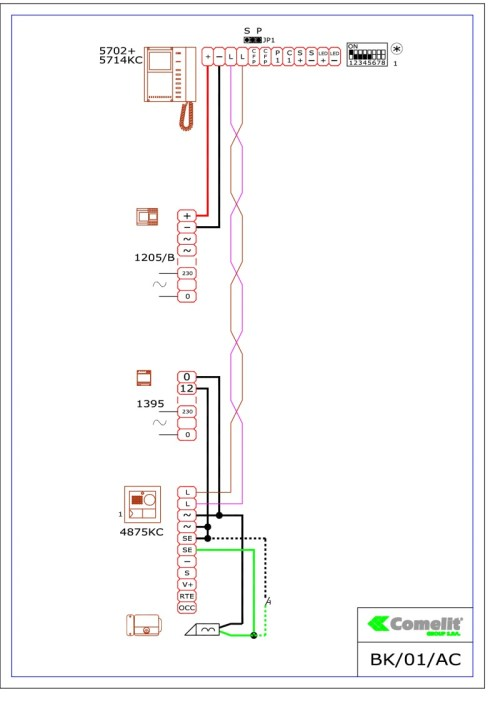 small resolution of comelit wiring diagramscomelit 1395 wiring diagram 1
