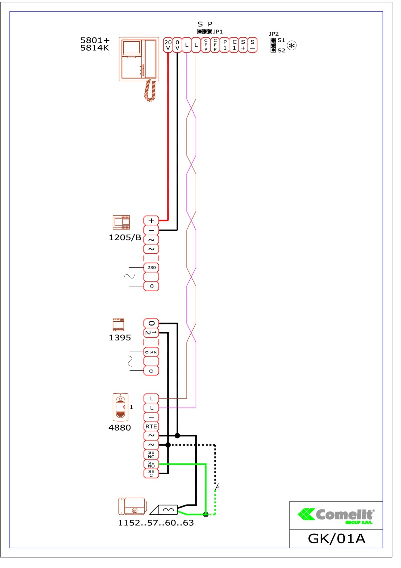 medium resolution of comelit 1395 wiring diagram 2
