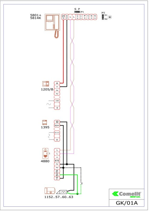 small resolution of comelit wiring diagramscomelit 1395 wiring diagram 2