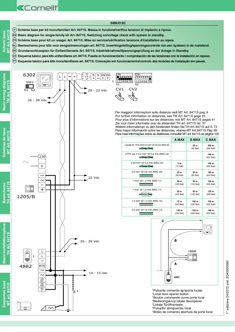 hight resolution of comelit wiring diagrams8471s wiring diagram