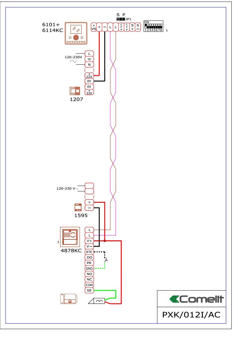 comelit wiring diagram lumbar spinal nerves diagrams 1595