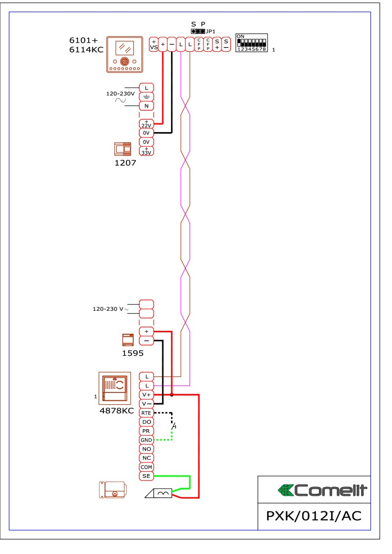 hight resolution of comelit wiring diagramscomelit intercom wiring diagram 2