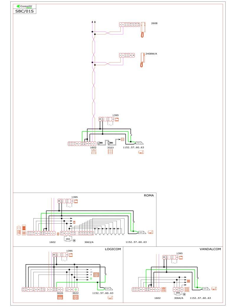 comelit audio intercom wiring diagram