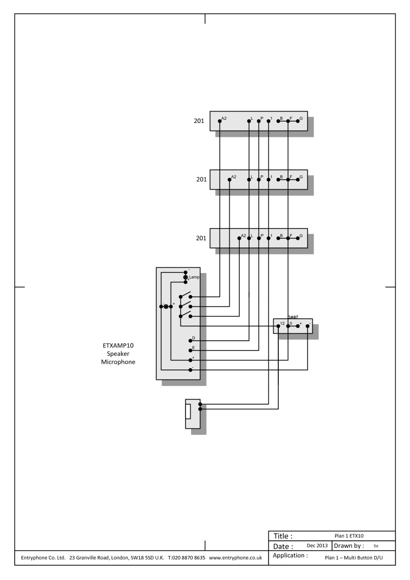 entryphone wiring diagrams