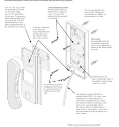 entryphone installation instructions for 200 500 series telephones [ 800 x 1136 Pixel ]
