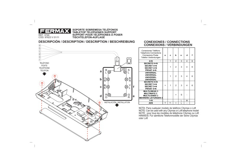 Fermax loft user manual