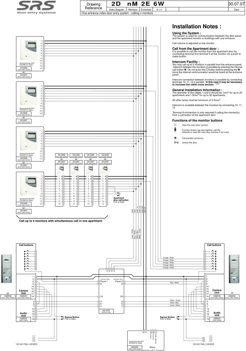 Srs Intercom Wiring Diagram : 27 Wiring Diagram Images