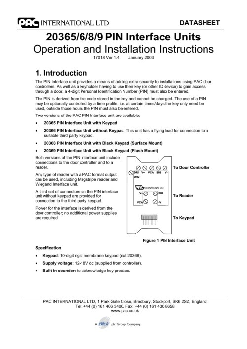 small resolution of pac 20365 6 7 8 9 installation manual