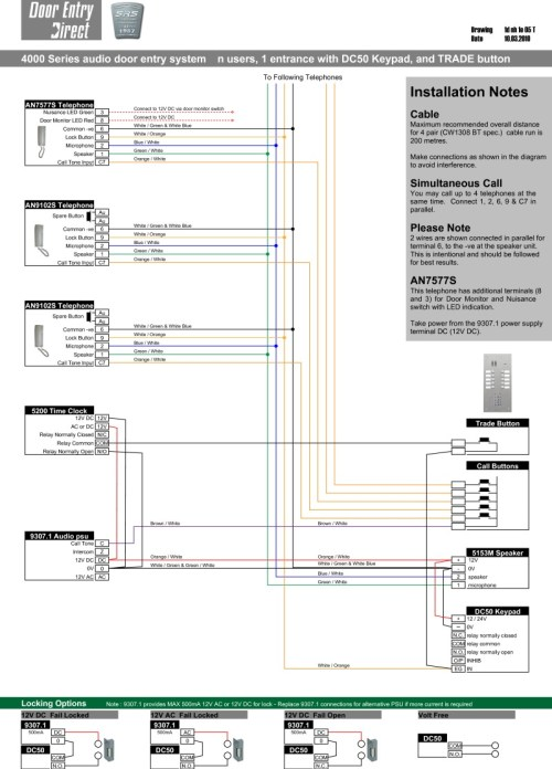 small resolution of srs audio installation diagram n way 1 entrance with dc50 keypad a