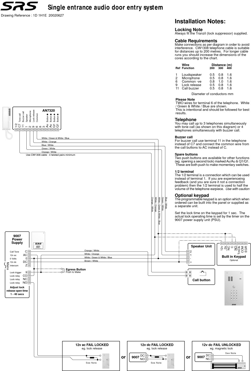 hight resolution of diag n way 1 entrance with an7320 9007 psu