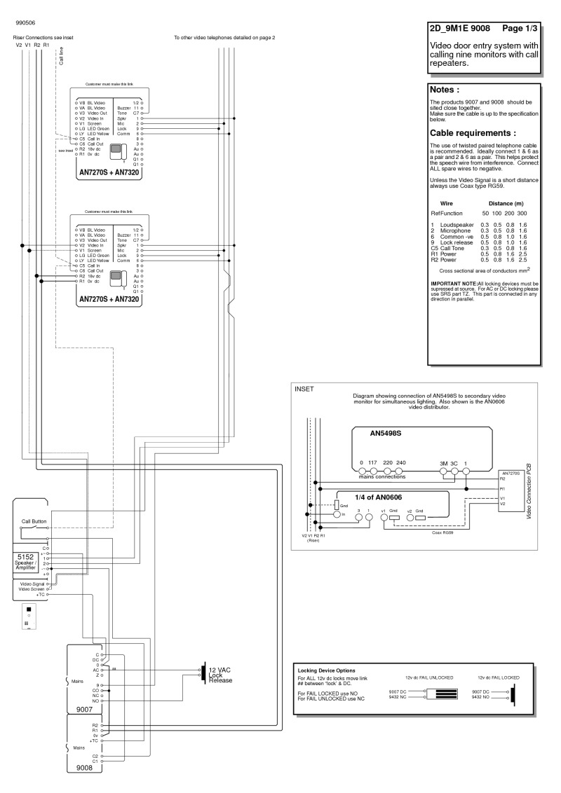 m and s intercom wiring diagrams
