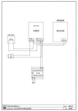 Videx 800 Series Wiring Diagrams