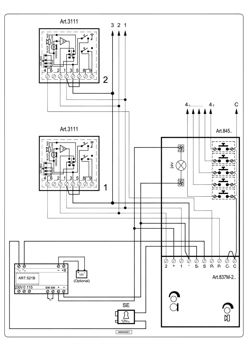 Videx 800 Series Wiring Diagrams