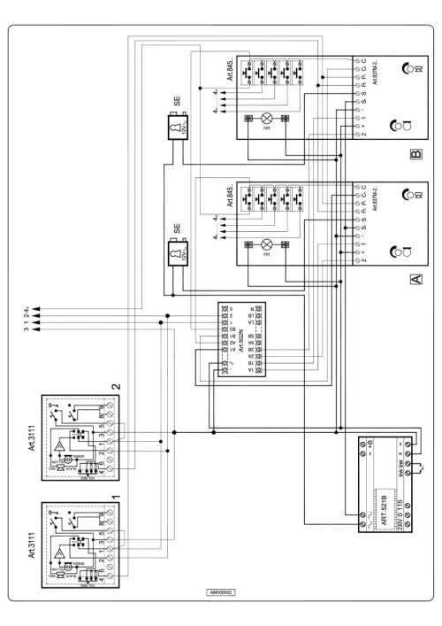 small resolution of videx 837 series audio wiring diagram 2 x entrance n x phones 521b