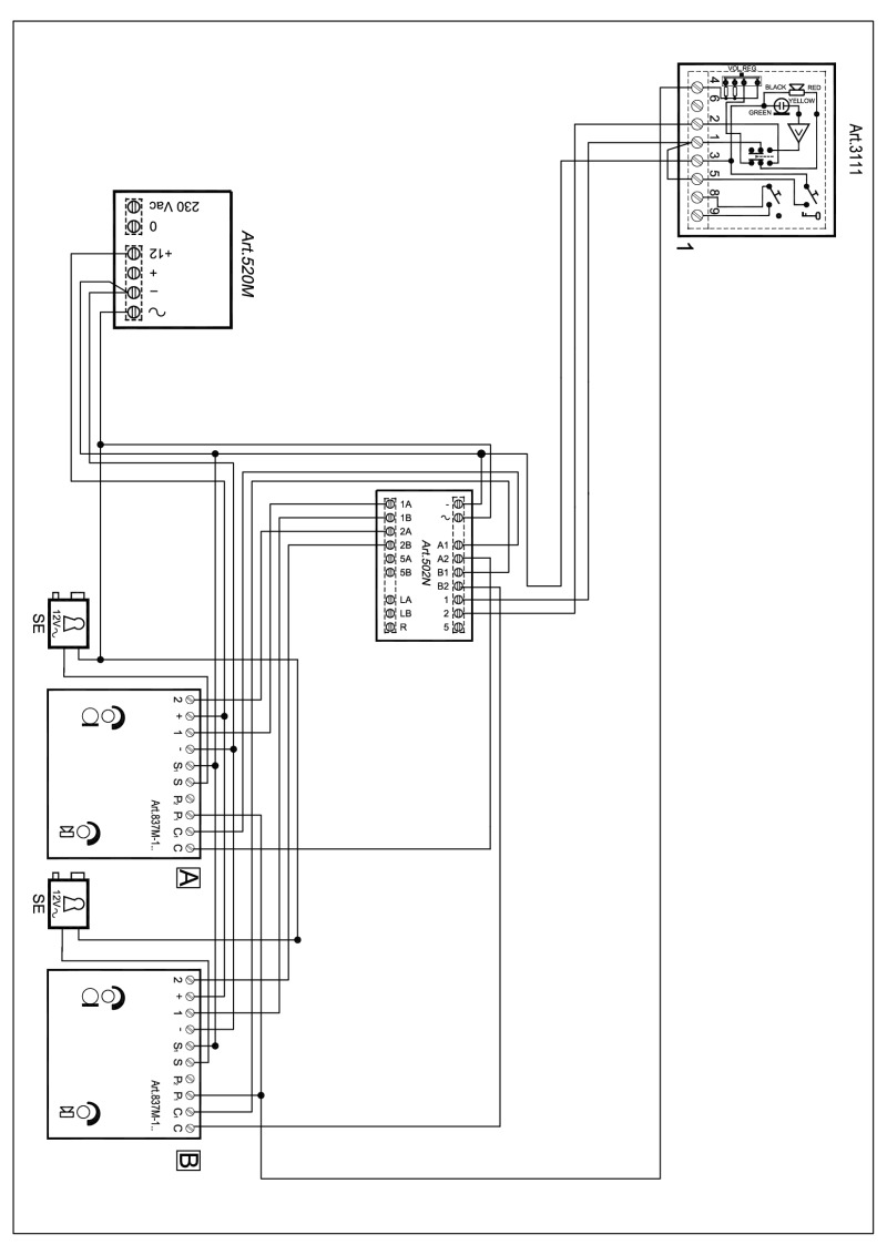 hight resolution of videx 837 series audio wiring diagram 2 x entrance 1 x phone 520m