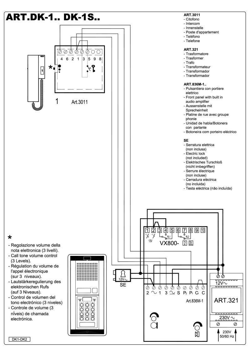 medium resolution of videx dk1 audio wiring diagram 3 n 1 x entrance with