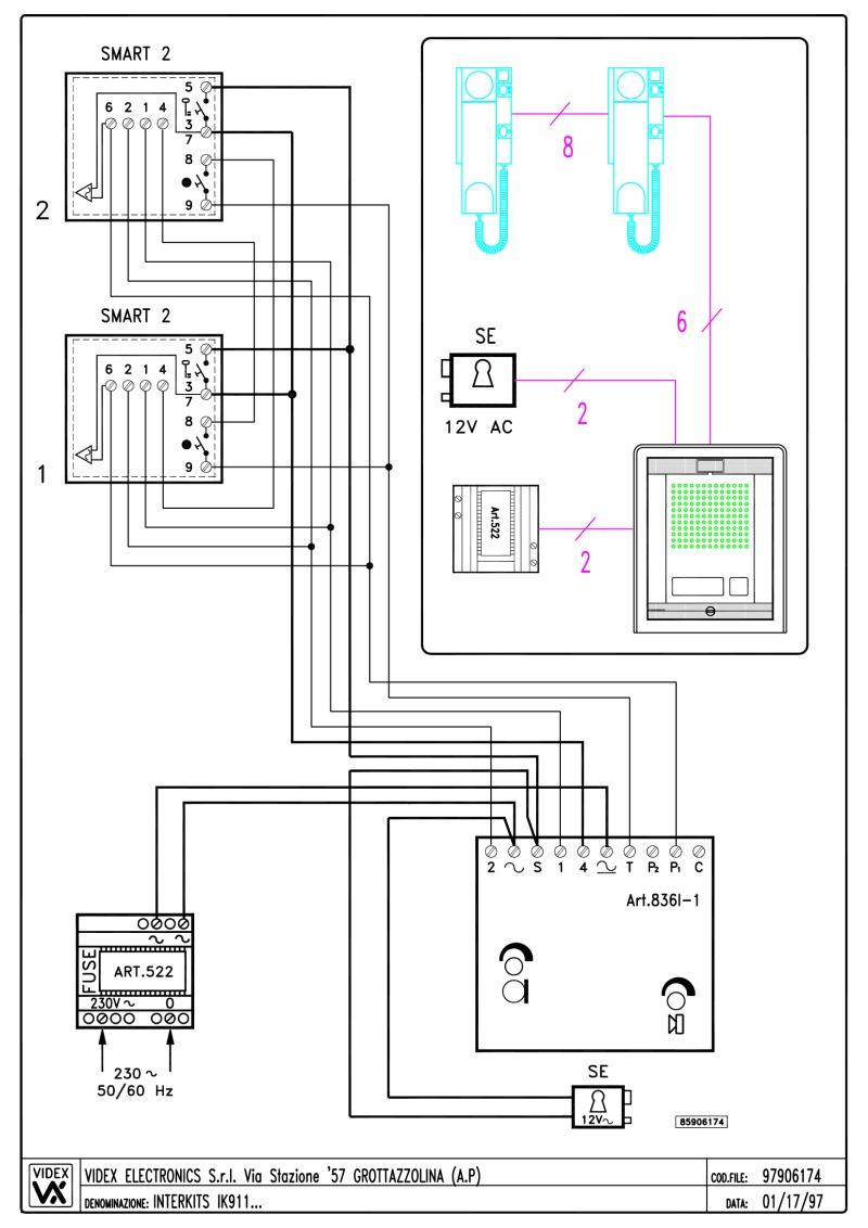 medium resolution of videx ik1 audio wiring diagram 4 n 1 x entrance 2
