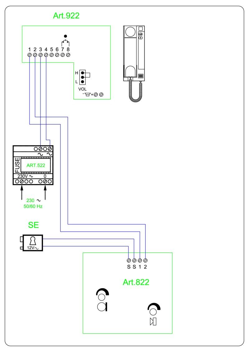 hight resolution of videx twk1 audio wiring diagram 2 wire 1 x entrance 822