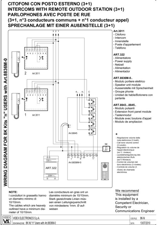 small resolution of videx 8k2 wiring diagram