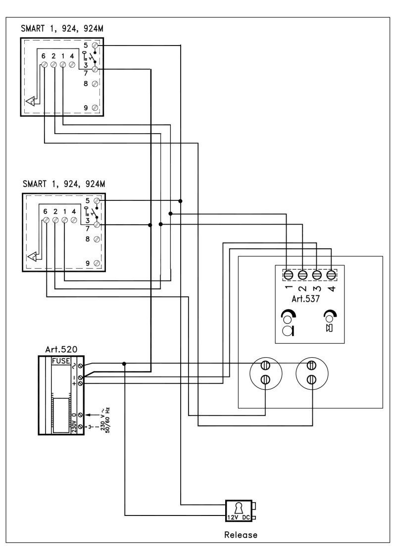 hight resolution of videx 536 series vr audio wiring diagram 1 x vr entrance 2 x phones