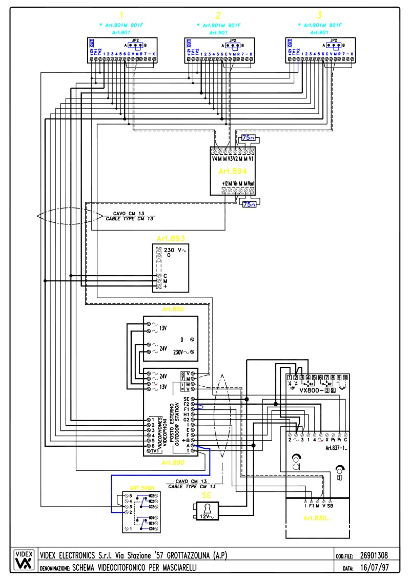 Urmet Intercom Wiring Diagram : 29 Wiring Diagram Images
