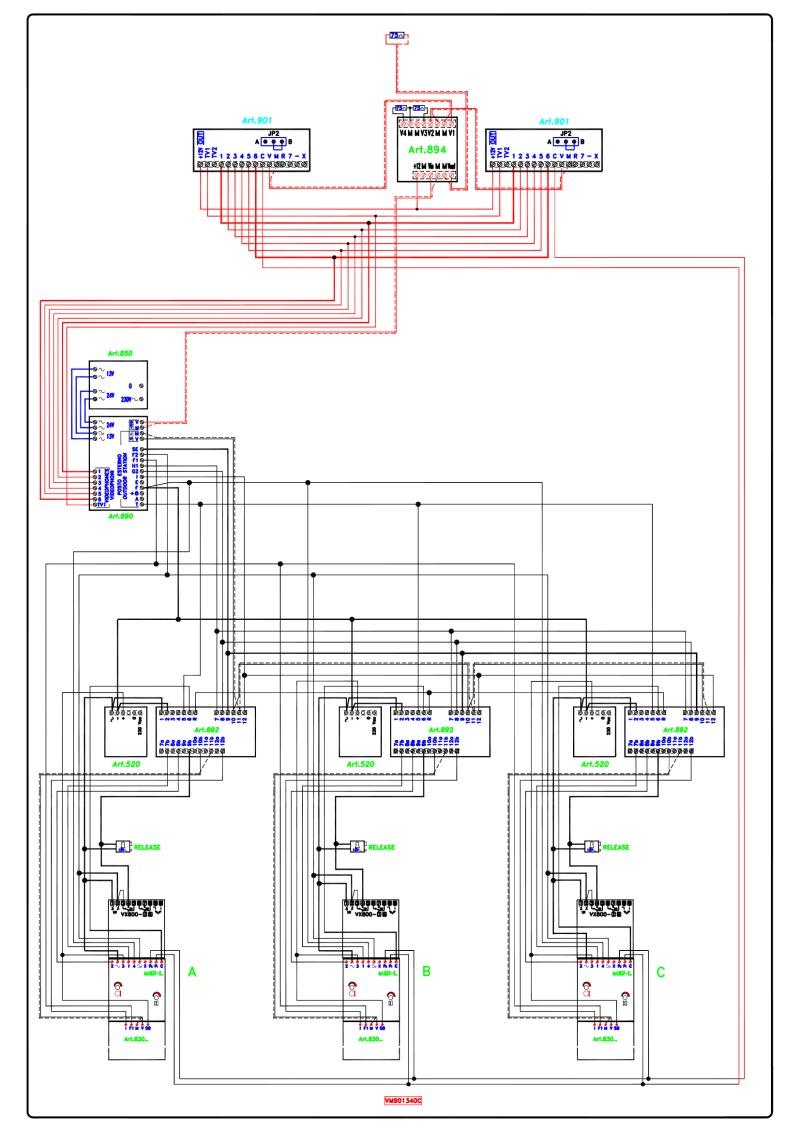 medium resolution of videx video coax system 3 entrance 3 x 2 button 837