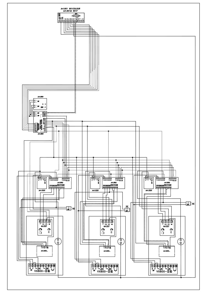 Videx Video Basic Wiring Diagrams