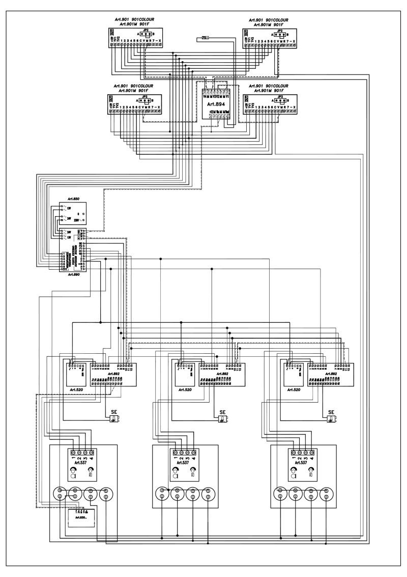 medium resolution of videx video coax system 3 entrance 1 x 4 button 537