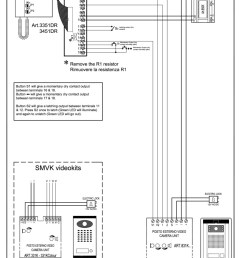 videx 831k series video wiring diagram 1 x entrance 1 x video phone