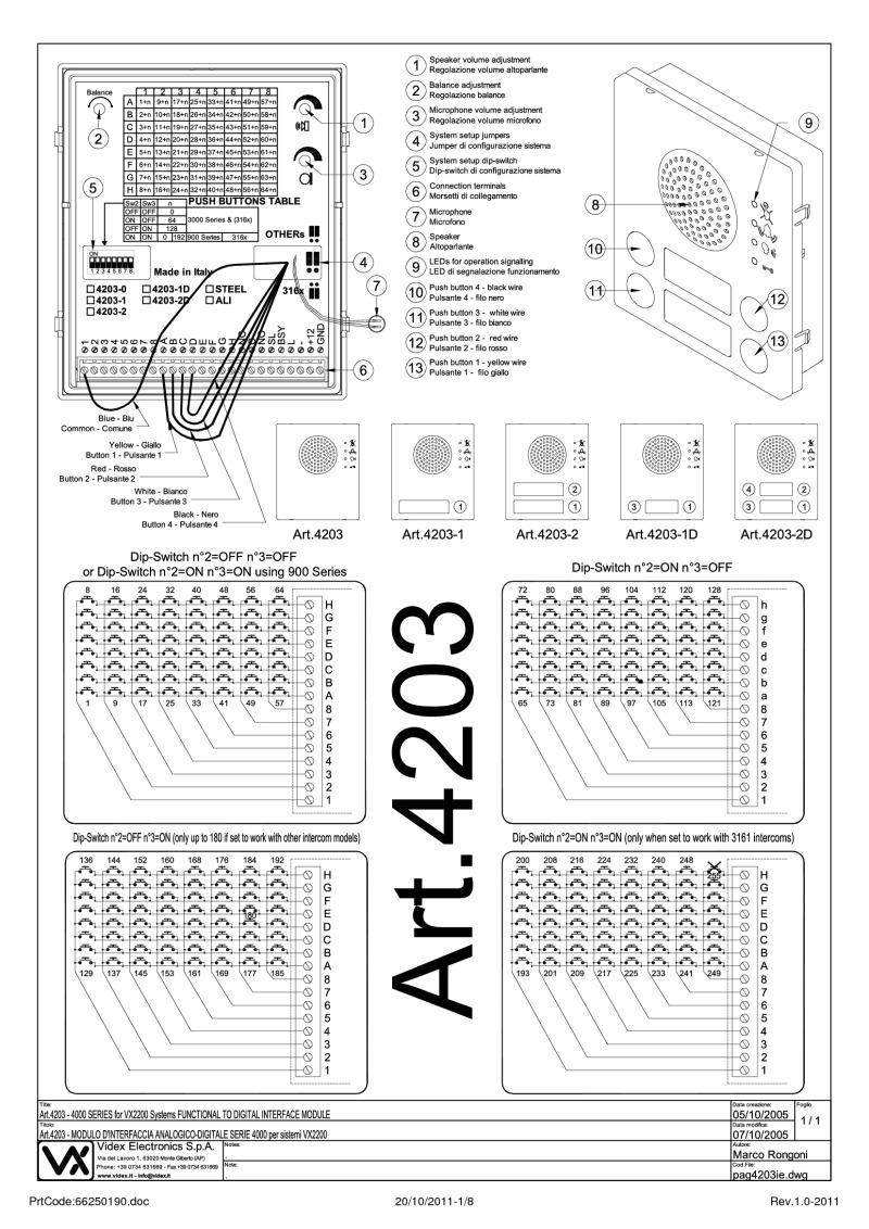 Videx-V-4203-2-Videx 2 Button Functional Interface Speaker