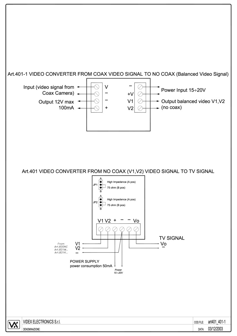 videx installation instructions