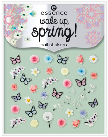 essence wake up spring nail stickers